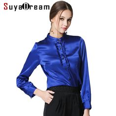 Woman Silk Satin Blouse Sold Stand collar Long sleeved Blouses PLUS SIZE shirt Blusas femininas STRETCH 2017 NEW Fall Red Blue #Satin blouses http://www.ku-ki-shop.com/shop/satin-blouses/woman-silk-satin-blouse-sold-stand-collar-long-sleeved-blouses-plus-size-shirt-blusas-femininas-stretch-2017-new-fall-red-blue/