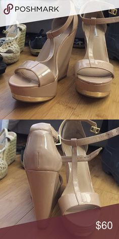 Brand New Steve Madden Wedges Brand new, SO cute, go with everything Steve Madden Shoes Wedges