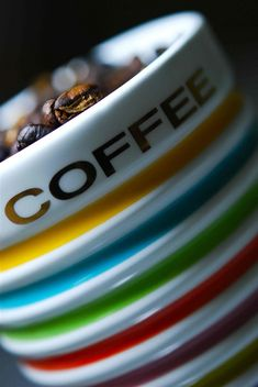 Two of my most favourite things, colour and coffee. :)