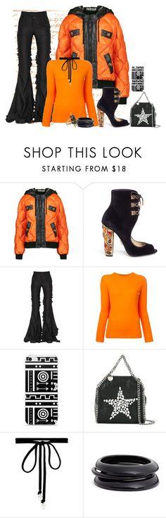 """Black and Orange"" by freida-adams ❤ liked on Polyvore featuring Moschino, Paul Andrew, Marco de Vincenzo, MM6 Maison Margiela, STELLA McCARTNEY, Joomi Lim, ZENZii, Noir Jewelry, blackandorange and theoutnet"