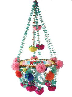 I love love love Polish folk art. The bright colors and the floral motifs and the slight retro look to it all make me so happy. Spending 100 bux on a paper chandelier is a little nuts but I might need this.