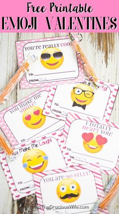 Free Printable Emoji Valentines for Kids Homemade Valentines, Valentines For Kids, Valentine Ideas, Market Day Ideas, Holiday Crafts For Kids, Holidays With Kids, Valentine Decorations, Kids Cards, Diy Ideas