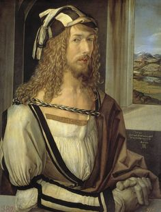 1498 Oil On Panel. Albrecht Durer Poster - Self Portrait