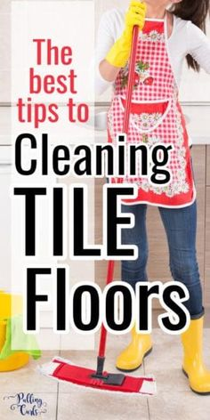 How to clean tile floors was perplexing to me.  The grout.  So confusing.  This post will show you how to clean tile floors with vinegar and baking soda.  Get floors more clean, with household ingredients.  Sounds awesome, right?