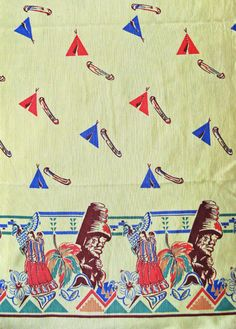"""Fabric design by Marianne McCrea McClain, Vancouver, BC. Manufactured in Montreal ca.1945. Used to create the """"Canadiana"""" swim suit."""