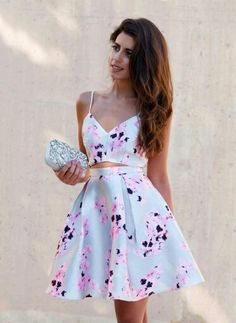 Floral Summer Dress by Pretty Outfits, Pretty Dresses, Beautiful Dresses, Cool Outfits, Grad Dresses, Casual Dresses, Fashion Dresses, Summer Wedding Outfits, Summer Dresses