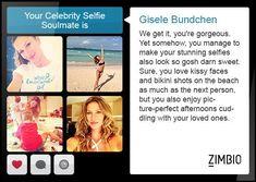 I took Zimbio's celebrity selfie quiz and my selfie soulmate is Gisele Bundchen… Feeling Great, How Are You Feeling, Celebrity Selfies, Kissy Face, Gisele Bundchen, Getting Pregnant, Beach Day, Quizzes, Pregnancy