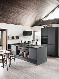 PRATO X grey - a minimalistic grey kitchen with our new X-module that makes the kitchen melt together with the rest of the house 🏡  #pratobykvik #kvik #kvikkitchen