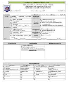 Formato de planeación por competencias by Secundaria Foránea 5, ISC via slideshare