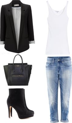 """""""boyfriend jeans dressed up"""" by chiara-amabile on Polyvore"""
