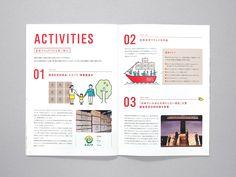 Shimada Co. / Brochure on Behance Page Layout Design, Design Café, Magazine Layout Design, Book Layout, Leaflet Layout, Leaflet Design, Café Vintage, Case Study Design, Catalogue Layout