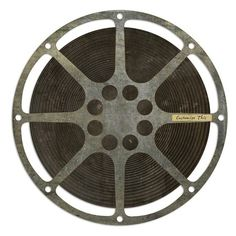 Spicher and Company 'Film Reel' Vintage Look Wall Art ($270) ❤ liked on Polyvore featuring home, home decor, wall art, circles, fillers, art, decor, extras, round and circular