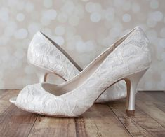 bef2a4dfc292 Ivory Katie Wedding Shoes by Ellie Wren (Color May Be Customized)