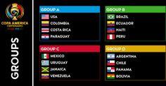 Check out Copa America Centenario Schedule Seeding Roster Team News. #copa100 #ca2016 #copaamerica #centenario #mycopacolors #copa2016 #football #soccer #funny Copa America 2016 Schedule Fixtures Copa america centenario Team squad roster: Fixture Copa...