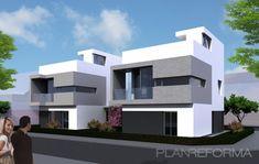Exterior style contemporaneo color blanco, gris, negro  diseñado por NUÑO ARQUITECTOS | Arquitecto
