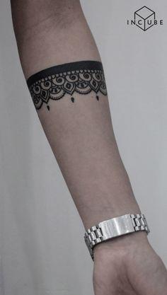 Arm Band Tattoo For Women, Wrist Band Tattoo, Arm Tattoo, Anklet Tattoos, Leg Tattoos, Body Art Tattoos, Tribal Tattoos, Band Tattoo Designs, Tattoo Designs For Women