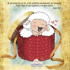 DE TODO UN POCO: tarjetitas cristianas de las ovejitas. Bible Text, Bible Notes, Biblical Verses, Bible Verses, Holly Bible, Biblia Online, Cute Sheep, Spiritual Messages, In Christ Alone