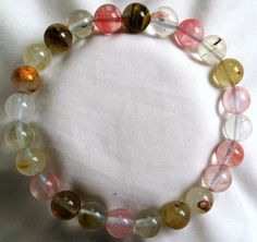 Wassermelonenturmalin Heilstein Perlen Armband