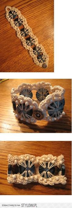 bransoletka  / szydełko / biżuteria pasmanteryjna