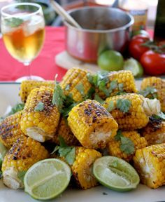 BBQ Mexican Corn with Spicy Lime Butter