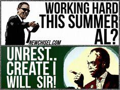 Al Sharpton. Barack Obama.