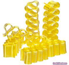 Old Fashioned Yellow Thin Ribbon Candy: Box.Since no yellow licorice? Bulk Candy, Candy Shop, Hard Candy, Yellow Candy, Colorful Candy, Like Symbol, Online Candy Store, Ribbon Candy, Thin Ribbon