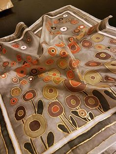 Hand Painted Silk Scarf Silk Square Scarf Hand painted Silk