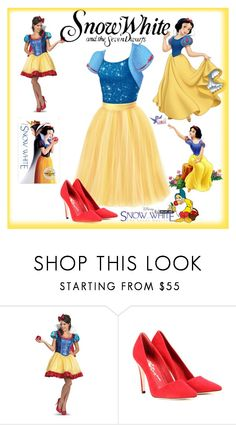 """""""Untitled #1438"""" by deskaj ❤ liked on Polyvore featuring Disney, Alice + Olivia, women's clothing, women's fashion, women, female, woman, misses, juniors and snowwhite"""