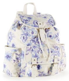 Twill Flowers Backpack - Aeropostale                         love this bag! dreaming for back to school!