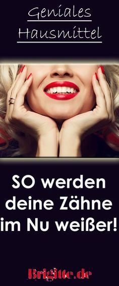 Dieses Hausmittel macht eure Zähne weißer Whiter teeth without expensive beauty products: You can easily make this tooth beautification yourself! Beauty Make Up, Beauty Care, Diy Beauty, Beauty Hacks, Perfect Teeth, Tooth Sensitivity, White Teeth, Nail Tutorials, Wedding Beauty