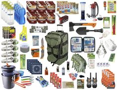 Family Survival Kit.  96 items that can keep a family of 4 alive for an indefinite amount of time during a crisis situation.