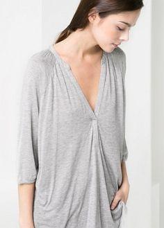 V-neck blouse - Blouses and shirts - Women - MANGO