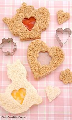 Pink Piccadilly Pastries: How to Make Pretty Tea Sandwiches using Cookie Cutters