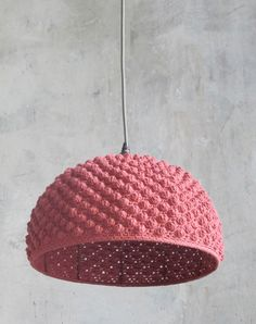 Hand-Knit Pendant Lamp