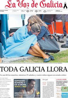 Los Titulares y Portadas de Noticias Destacadas Españolas del 26 de Julio de 2013 del Diario La Voz de Galicia ¿Que le pareció esta Portada de este Diario Español?