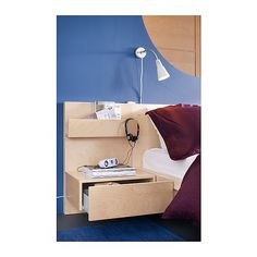 MALM Nightstand IKEA Open shelf gives you easy access to books, etc. Smooth running drawer with pull-out stop.