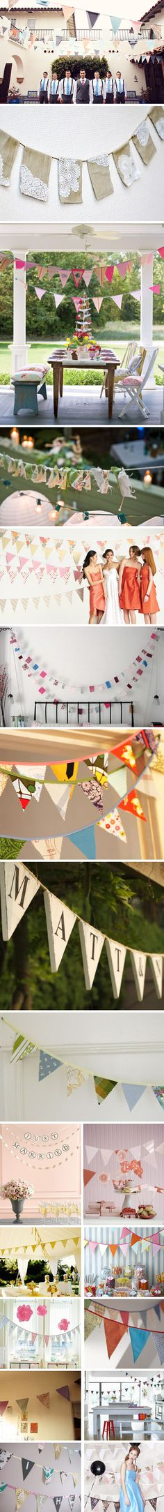 Shabby Chic Flag Banners
