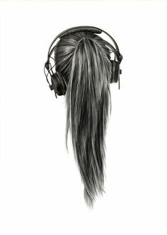 Terrific Pictures Crafts for Girls hair Tips If you'd like to place a great get together, a bed that ones girl will probably remember forever, then you Music Drawings, Pencil Art Drawings, Drawing Faces, Cool Drawings, Hair Drawings, People Drawings, Gesture Drawing, Drawing People, Girl Hair Drawing