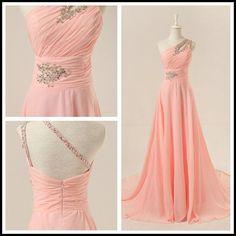Evening Dresses, Prom Dresses,Prom Dress,Chiffon Prom Dress,A-Line Prom Dress,One-Shoulder Prom Dress,Long Prom Dress