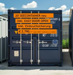 Geld sparen mit den MO.SPACE - 20' Seecontainer inkl. EASY OPEN DOOR und Einbruchsicherung um nur € 2.790,-- (Netto, ab Depot Bruck a.d. Leitha, gültig solange Vorrat reicht). Unsere weiteren Depots sind: Enns, Schwanenstadt, Wiener Neustadt und Graz. Gerne liefern wir dir den Seecontainer auch zu dir nach Hause oder zu deiner Firmenadresse. Jetzt bestellen: +43 664 432 58 60 Bratislava, Lockers, Locker Storage, Money, Easy, Moving Boxes, Storage Room, Wrapping, Save My Money