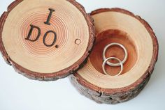 I Do ring box from End Grain Wood Shoppe.. Etsy