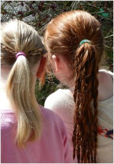 Here are three fun and simple hairstyles for girls of all ages. :)