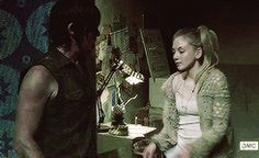 """S4E1 """"30 Days Without An Accident"""" Daryl and Beth - The Walking Dead"""