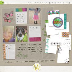 So I Never Forget Pocket Page Protector Kit by Valorie Wibbens
