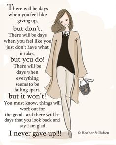 Wall Art for Women There Will Be Days por RoseHillDesignStudio