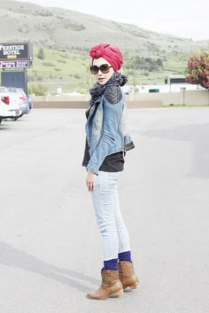 I love the turban wrap! This outfit is great for traveling! Fall outfit / Inda Nada Puspita