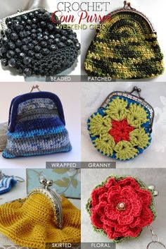Coin purses |super cute and useful gifts to make into charming shapes | Inspiration, free patterns and tutorials | DiaryofaCreativeFanatic