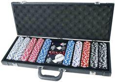 Pro Poker 500 Chips Poker Game Set in Black Aluminium Case