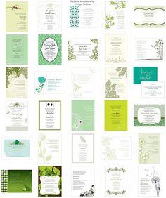 green wedding invitations - http://herbigday.net/green-wedding-invitations/
