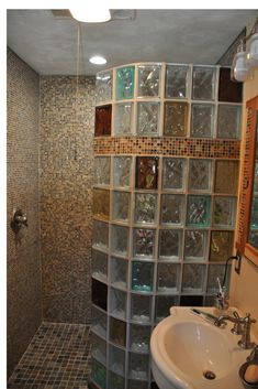 Custom Glass Block Shower Base And Wall Systems Can Make A Project Much  Easier To For